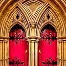 Two Red  Doors by shadesofcolor