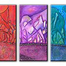 Rock Face Triptych by Jacqueline Eden