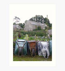 Wheelbarrows at Buckland Abbey Art Print