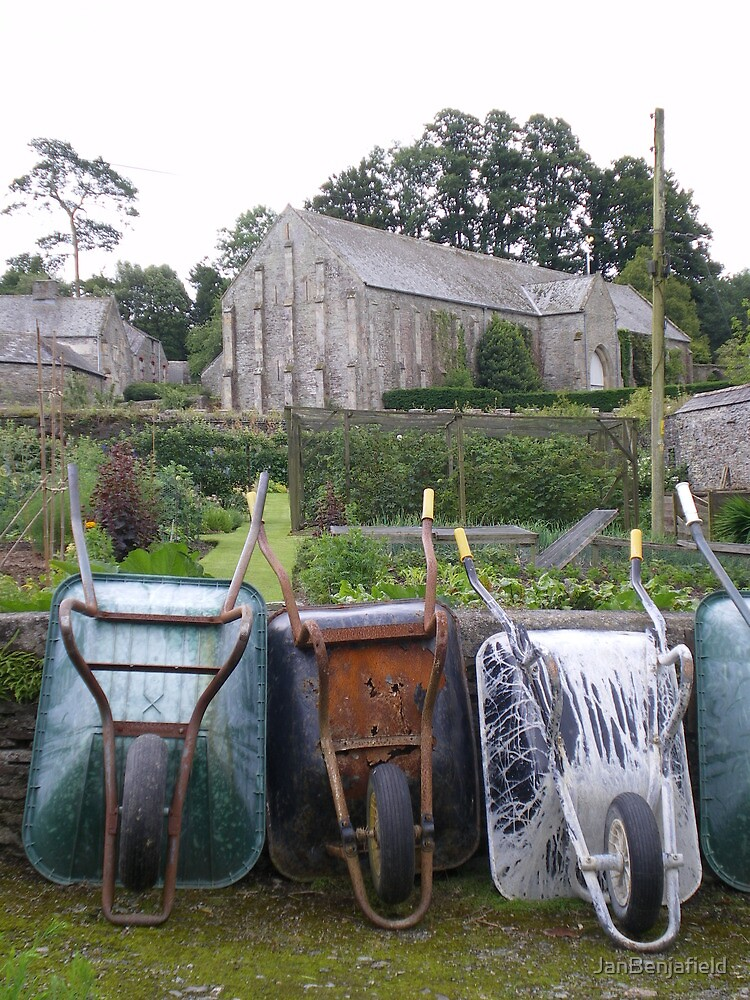 Wheelbarrows at Buckland Abbey by JanBenjafield