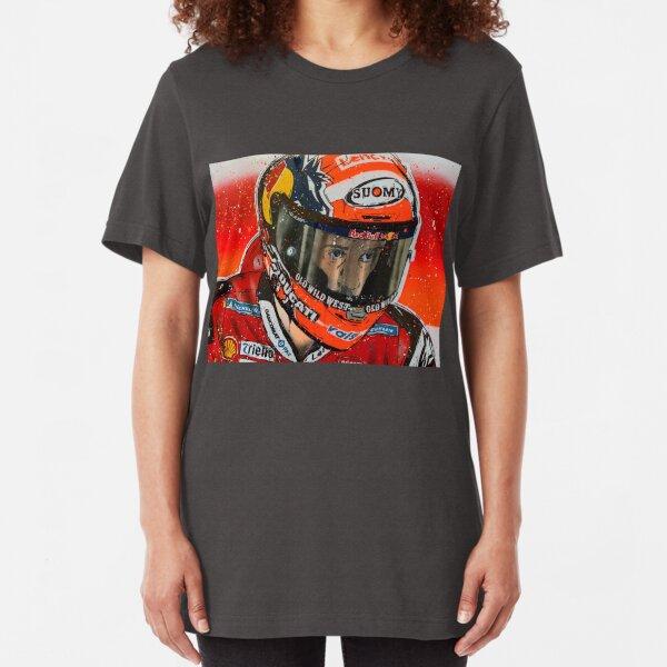 Andrea Dovizioso MotoGP graffiti painting by DRAutoArt Slim Fit T-Shirt