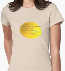Lemon, i have a crush on you! Womens Fitted T-Shirt