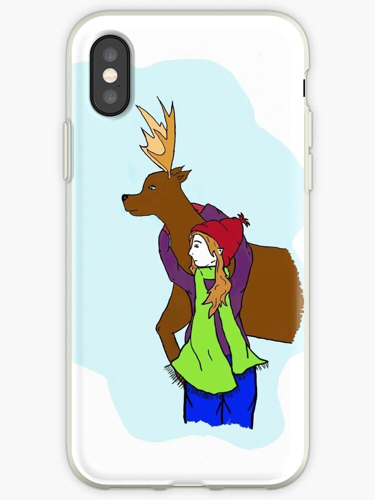 Deer and Girl by HJGiggles