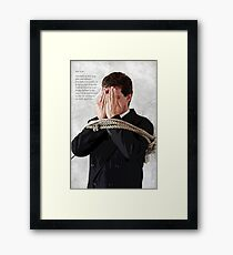 Tying the knot Framed Print
