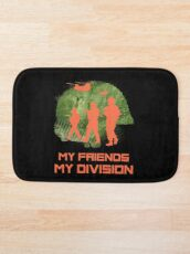 Gamer T-Shirt My Friends My Division Badematte