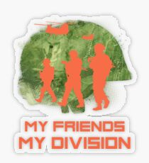 Gamer T-Shirt My Friends My Division Transparenter Sticker
