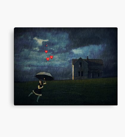 Obscured By Clouds... Canvas Print