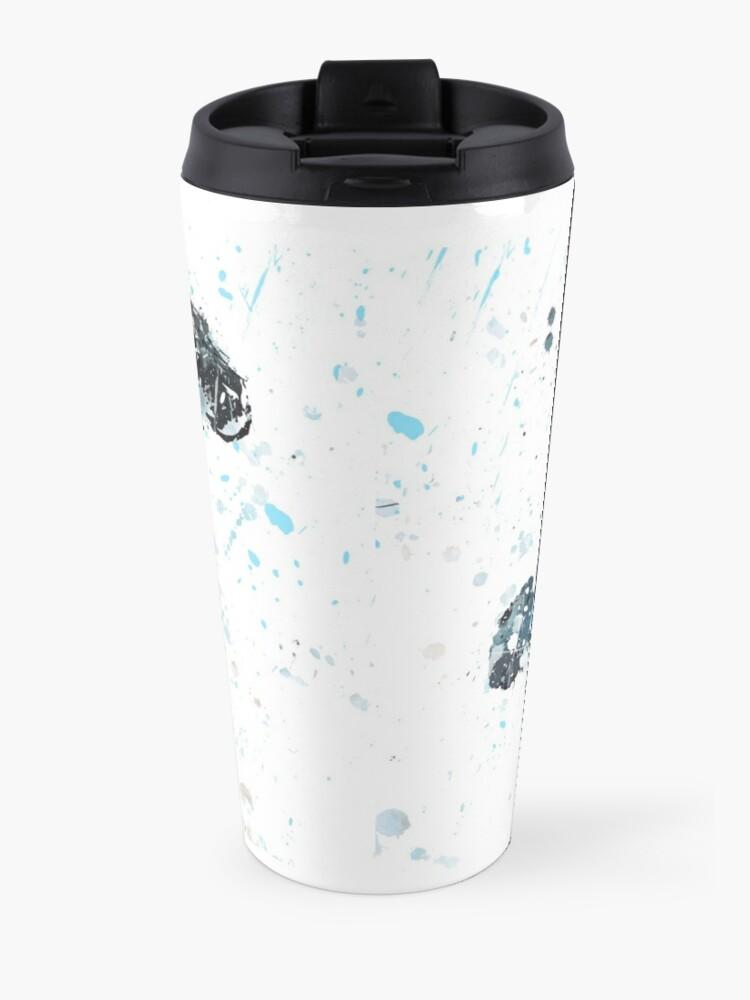 Alternate view of Snow Leopard, watercolor Snow Leopard Travel Mug