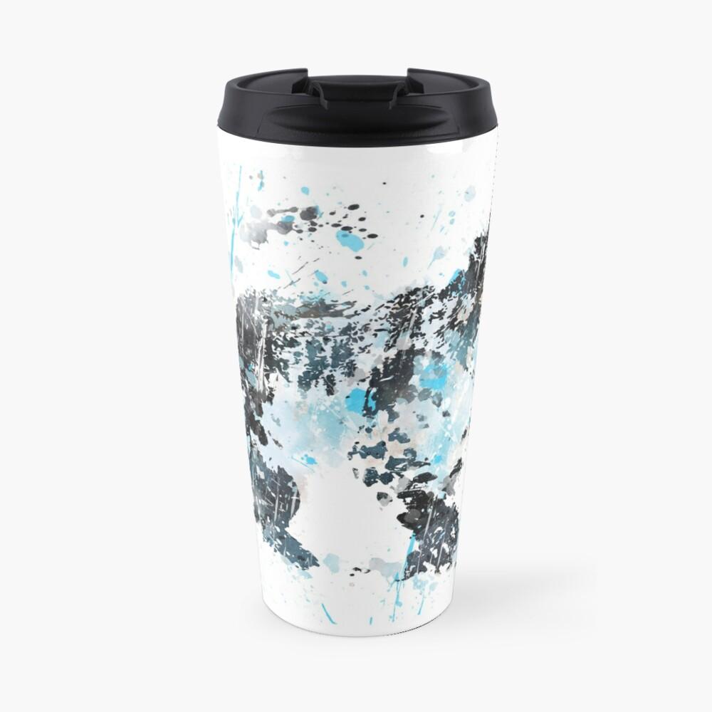 Snow Leopard, watercolor Snow Leopard Travel Mug