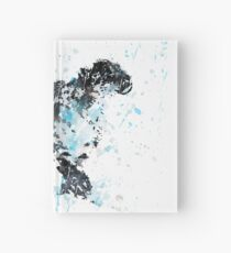 Snow Leopard, watercolor Snow Leopard Hardcover Journal