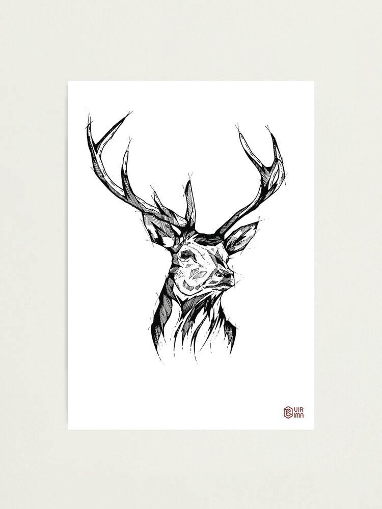 Impression photo ''My Deer - Art Print - Home Decor' : autre vue