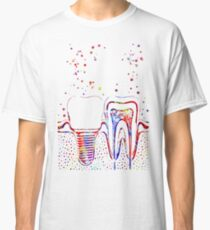 Human teeth and dental implant Classic T-Shirt