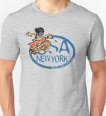 usa new york tshirt skater by rogers bros co T-Shirt