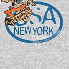 usa new york tshirt skater by rogers bros co by usanewyork