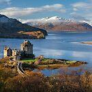 Eilean Donan Castle and Isle of Skye. Late Autumn. Dornie. Scotland.  by Barbara  Jones ~ PhotosEcosse