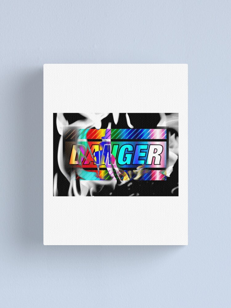 Alternate view of DANGER v0Fx Canvas Print