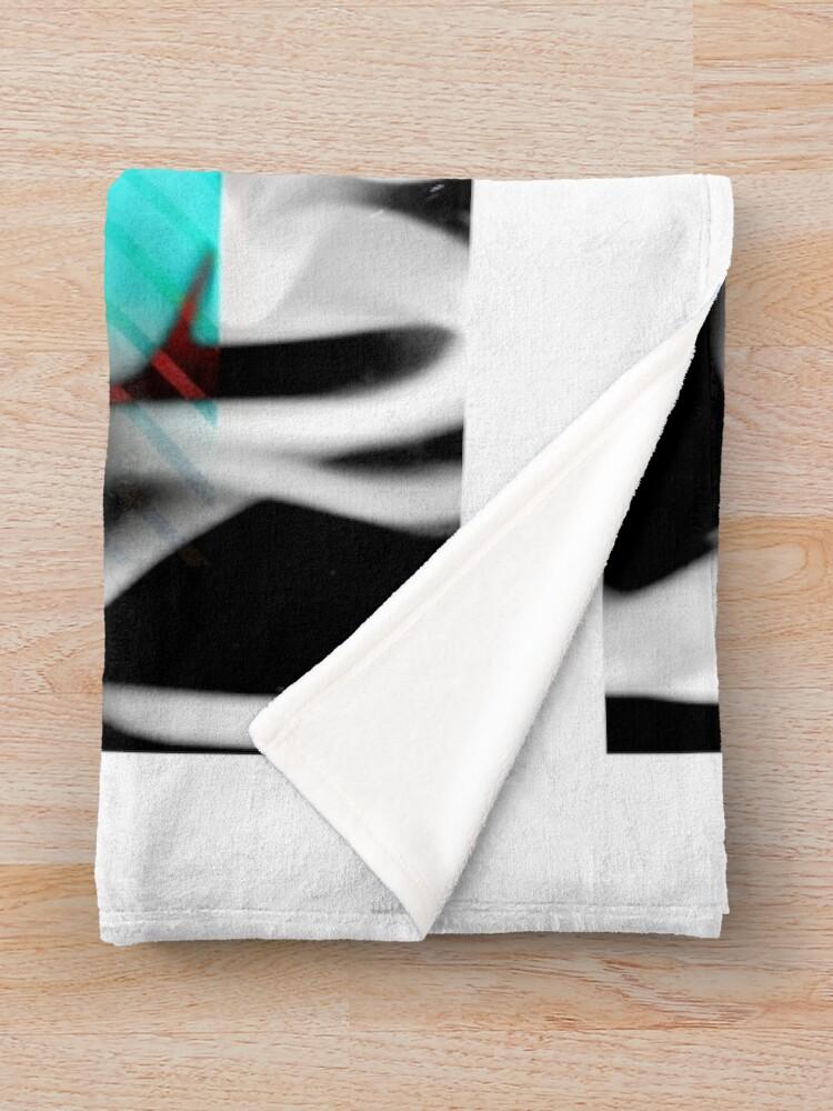 Alternate view of DANGER v0Fx Throw Blanket