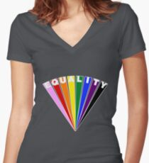 Equality Fan Fitted V-Neck T-Shirt