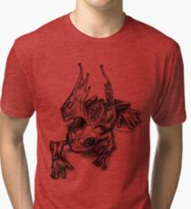 Angry S.Z.D. Frog Tri-blend T-Shirt