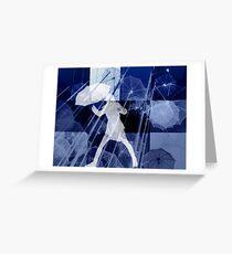 It's raining umbrellas Greeting Card