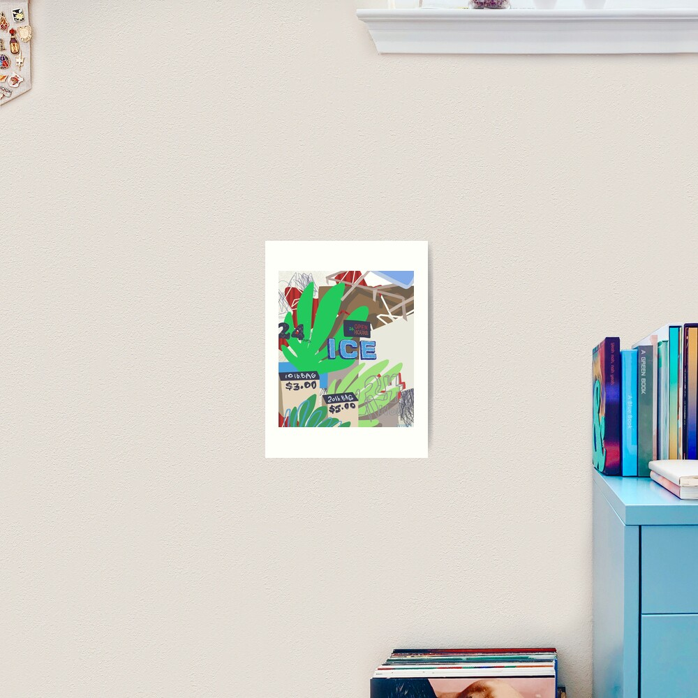 ICY SUMMER Art Print