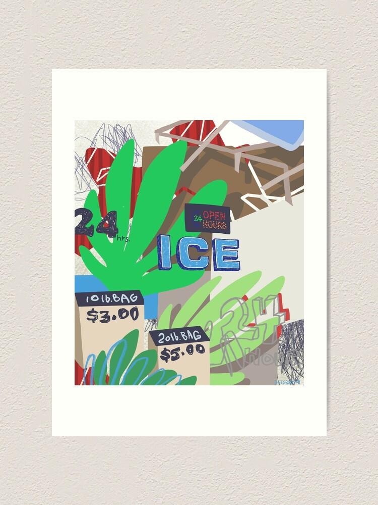 Alternate view of ICY SUMMER Art Print