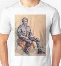 Liam, pensive. Oil on linen on panel. 2015  Unisex T-Shirt