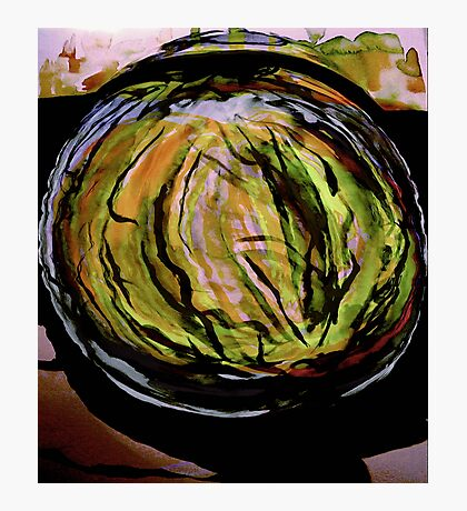watercolor watermelon..... in a patch Photographic Print