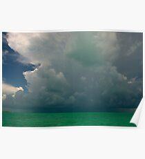 Storm clouds, Bahamas Poster