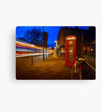 Red Phone Booth - Cambridge, England Canvas Print