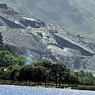 Slate Mine -Llanberis by Trevor Kersley