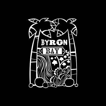 Byron Bay - Tiki Oasis (Black) by KirstenChambers