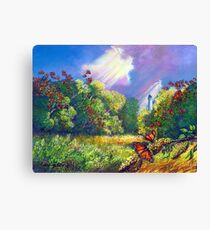 """Monarch Protuberance - St. Marks Light"" Canvas Print"