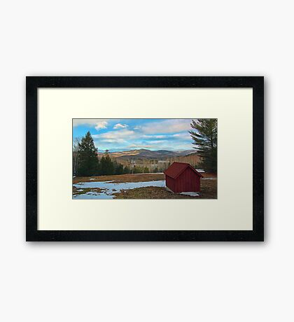 View of Kezar Lake & The Foothills Framed Print
