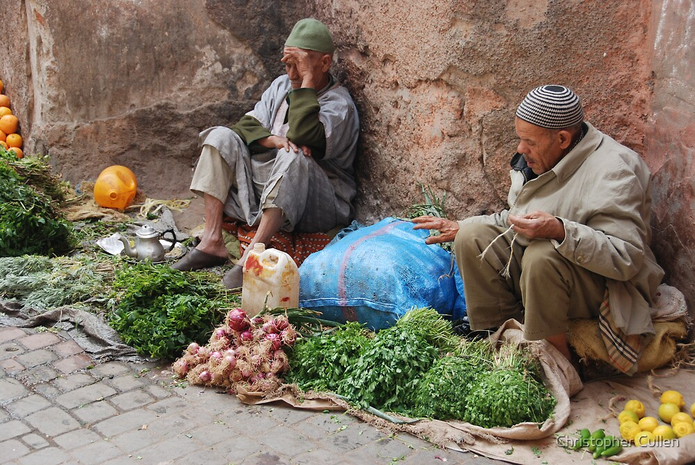 Marrakesh Souk, Morocco by Christopher Cullen