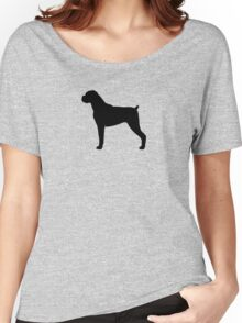 Boxer Dog Silhouette(s) Women's Relaxed Fit T-Shirt