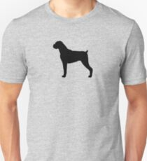 Boxer Dog Silhouette(s) Unisex T-Shirt