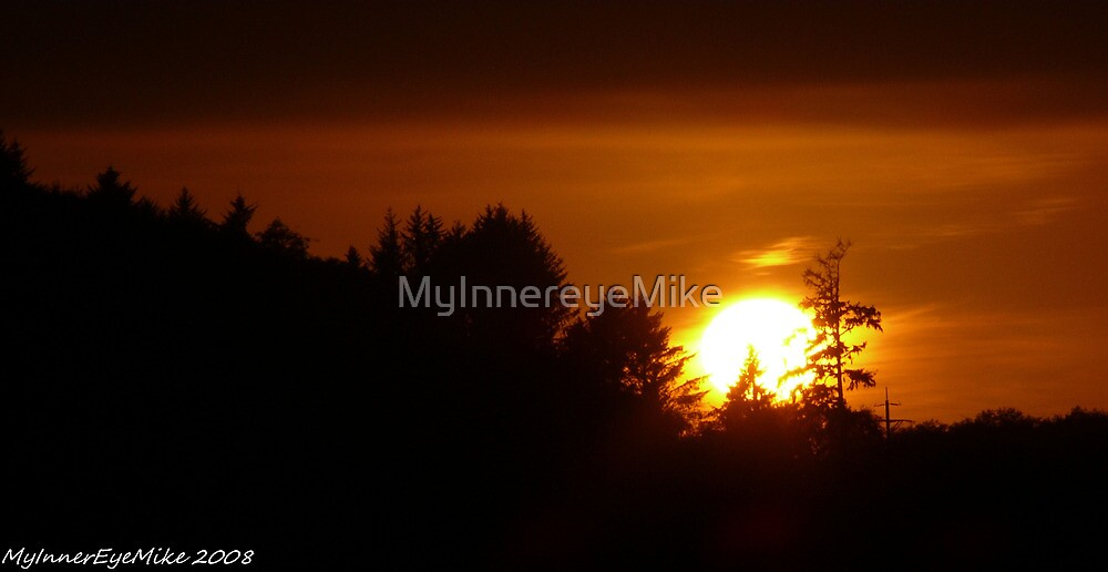 #599  Burning Sunset by MyInnereyeMike