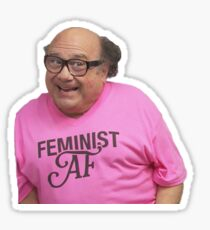 Danny Devito Feminist AF Sticker