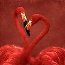 Flamingos von Nicole Bleck