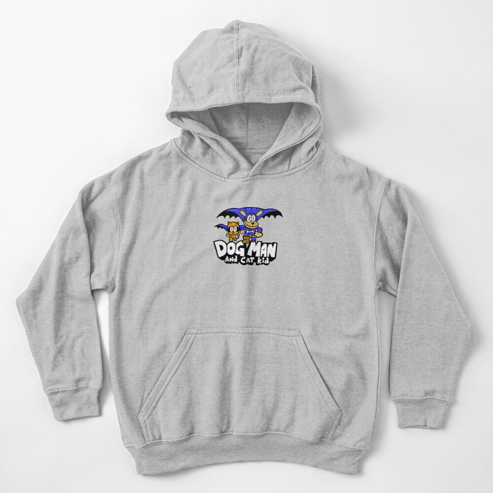 Dog Man with Cat Kid Kids Pullover Hoodie