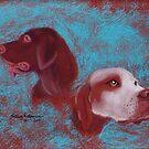Oul gun dogs by Hilary Robinson