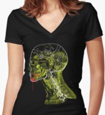 Zombie Fed Women's Fitted V-Neck T-Shirt