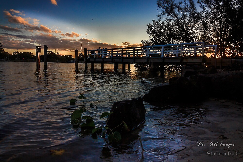 Sunset on Tweed River by StuCrawford
