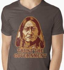 Trust Government Sitting Bull Men's V-Neck T-Shirt