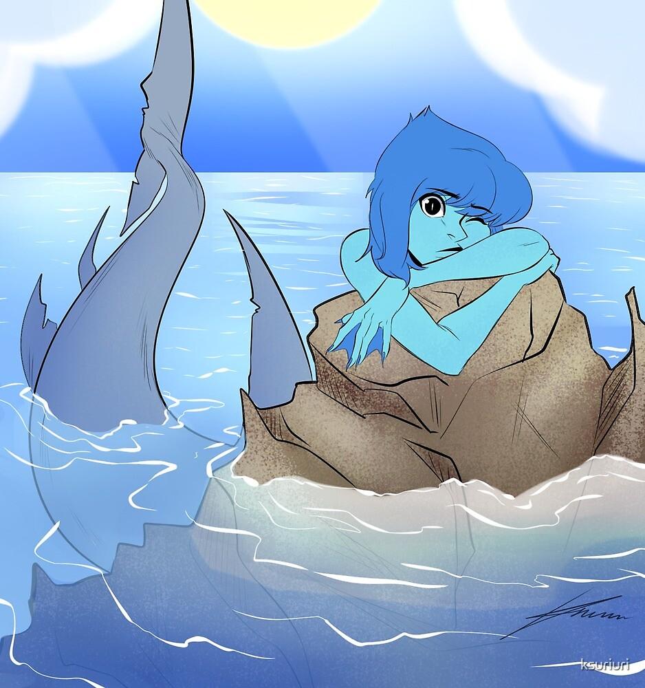 Lapis shark mermaid by ksuriuri