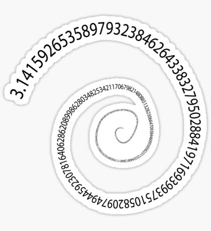 black pi spiral Sticker