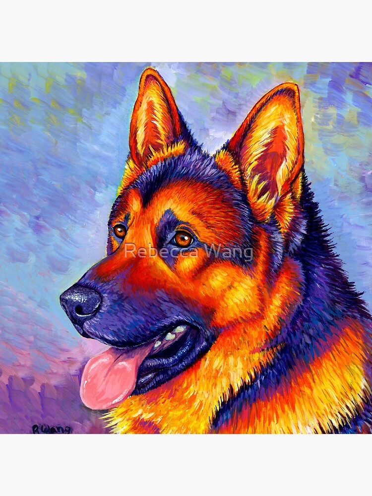 Courageous Partner - Colorful German Shepherd Dog by lioncrusher