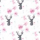 Floral stags by EmmaConnolly