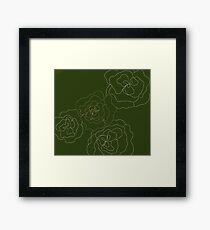 Minimalist floral Framed Print
